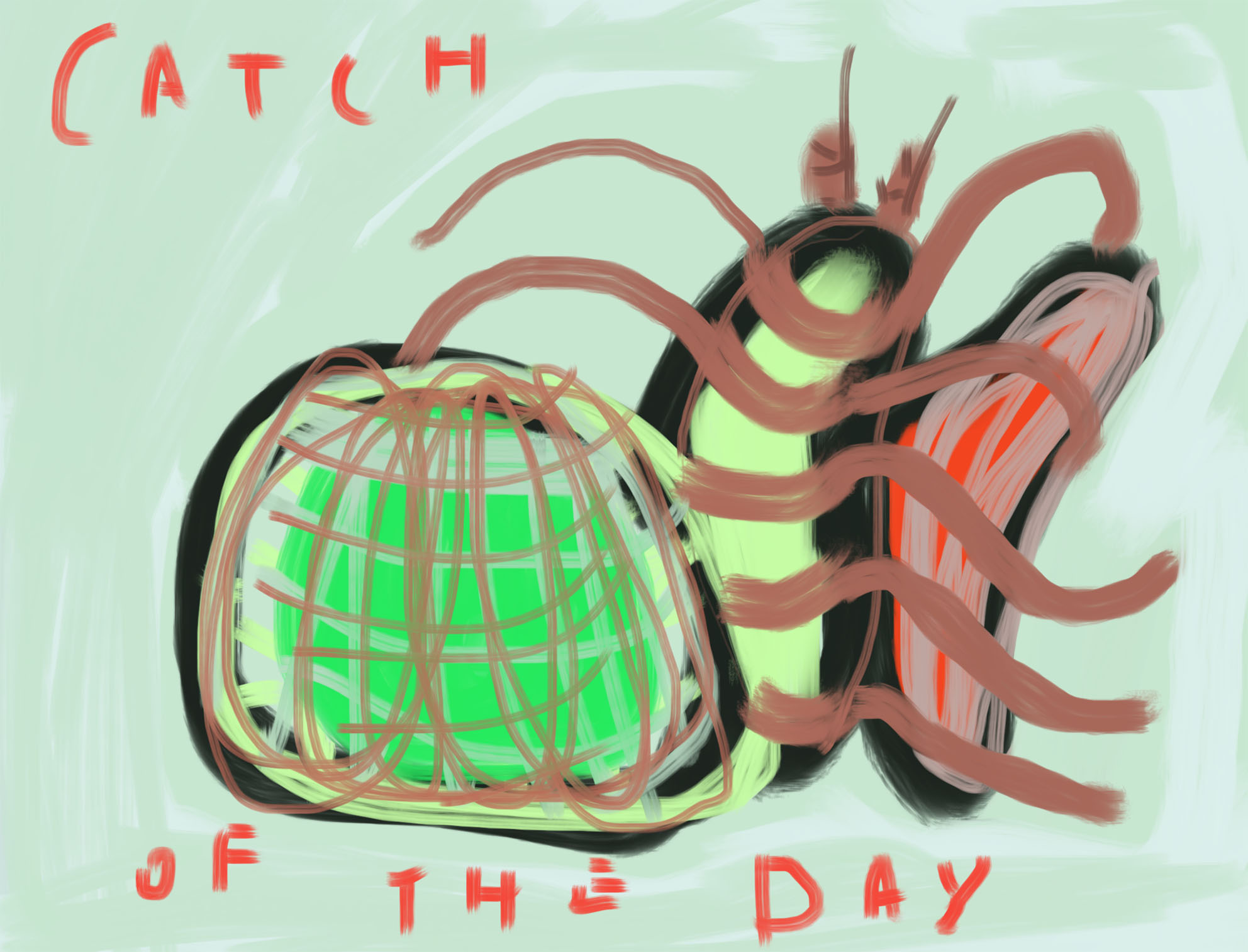 Catch Of The Day | IPadtekening